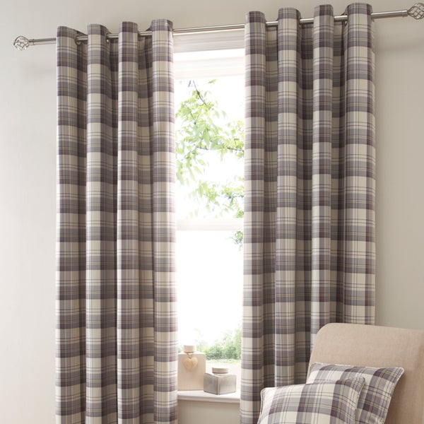 Mauve Balmoral Curtain Collection