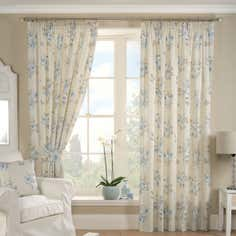 Blue Francesca Curtain Collection
