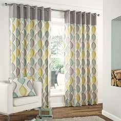 Grey Retro Curtain Collection
