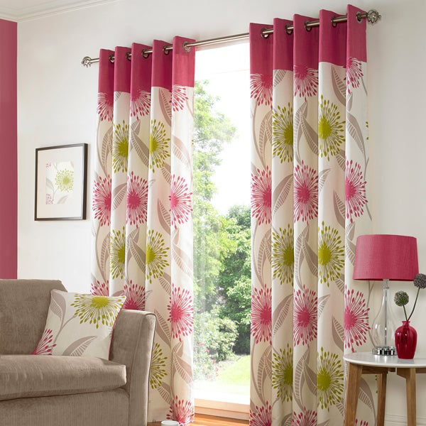 Pink Alora Curtain Collection