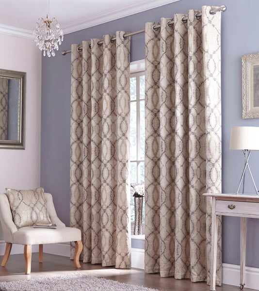 Grey Woven Ikat Curtain Collection