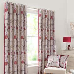 Red Buckleberry Curtain Collection