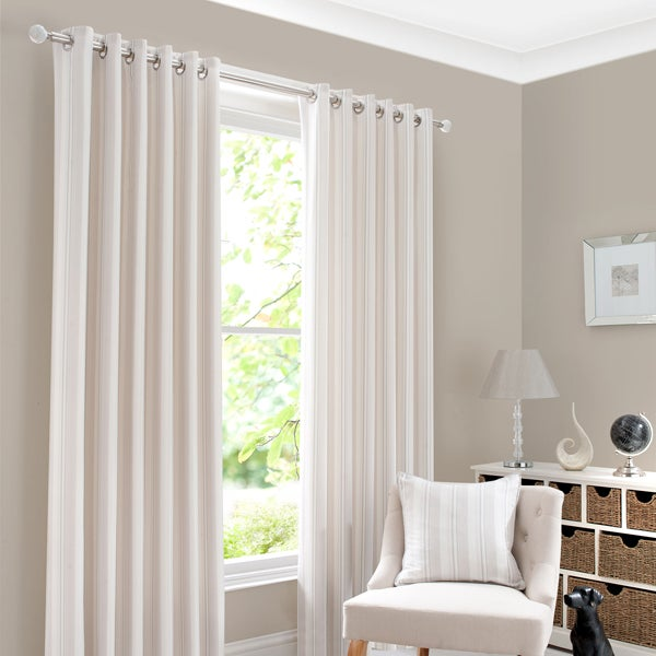 Natural Holkholm Stripe Curtain Collection