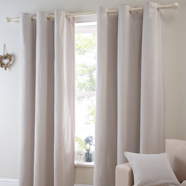 Natural Salcombe Curtain Collection