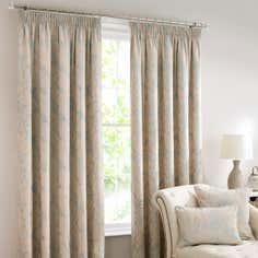 Duck Egg Songbird Pencil Pleat Curtain Collection