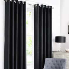 Black Dakota Eyelet Curtain Collection