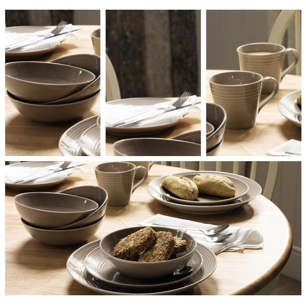 Taupe Gordon Ramsay Maze Dinnerware Collection