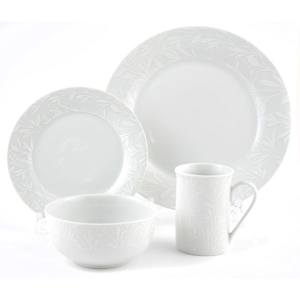 White on White Dinnerware Collection