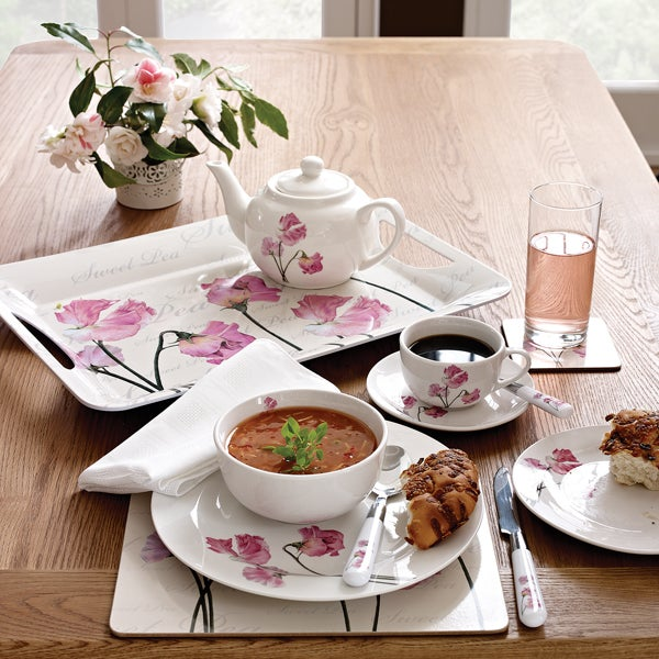 Pink Sweet Pea Dinnerware Collection