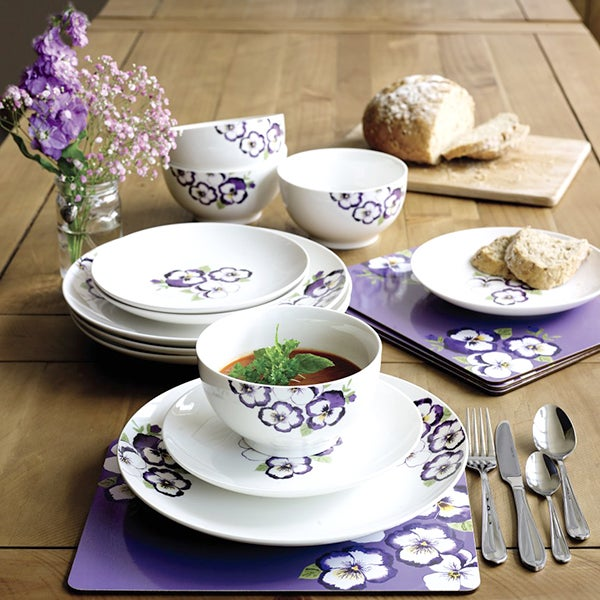Pansy Dinnerware Collection