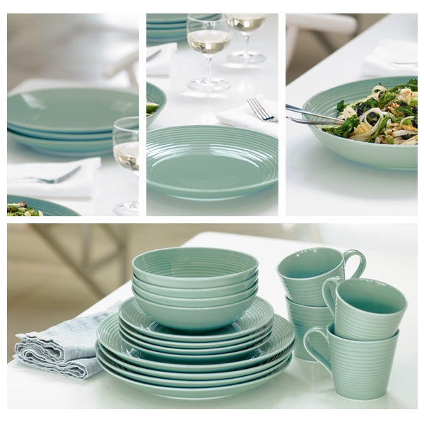Teal Gordon Ramsay Maze Dinnerware Collection