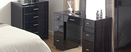 Venetian Black Bedroom Furniture Collection