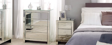 Venetian Mirrored Bedroom Furniture Collection
