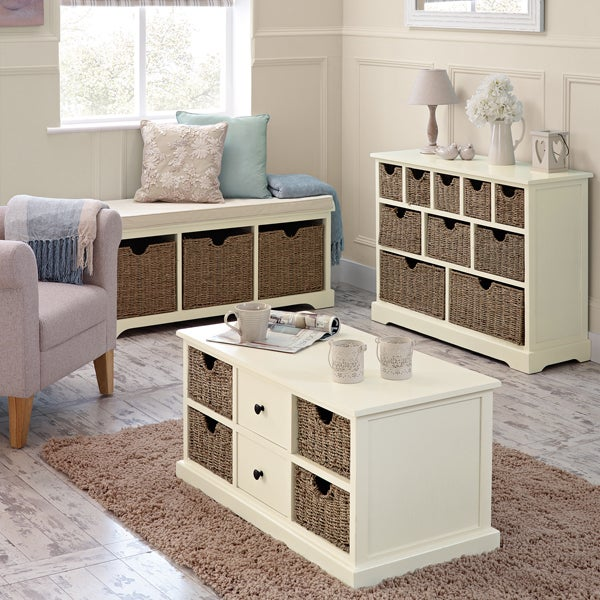 Cottage Ivory Living Furniture Collection