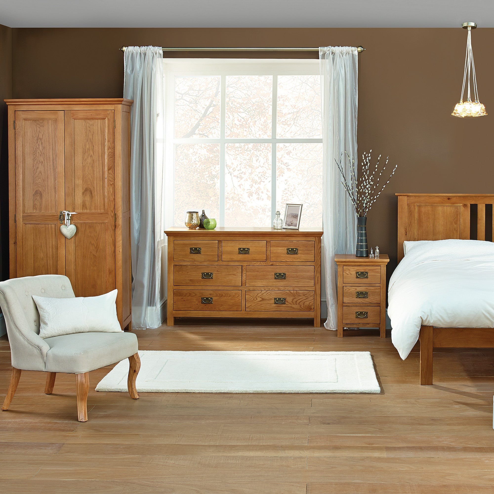 Dorchester Oak Bedroom Furniture Collection