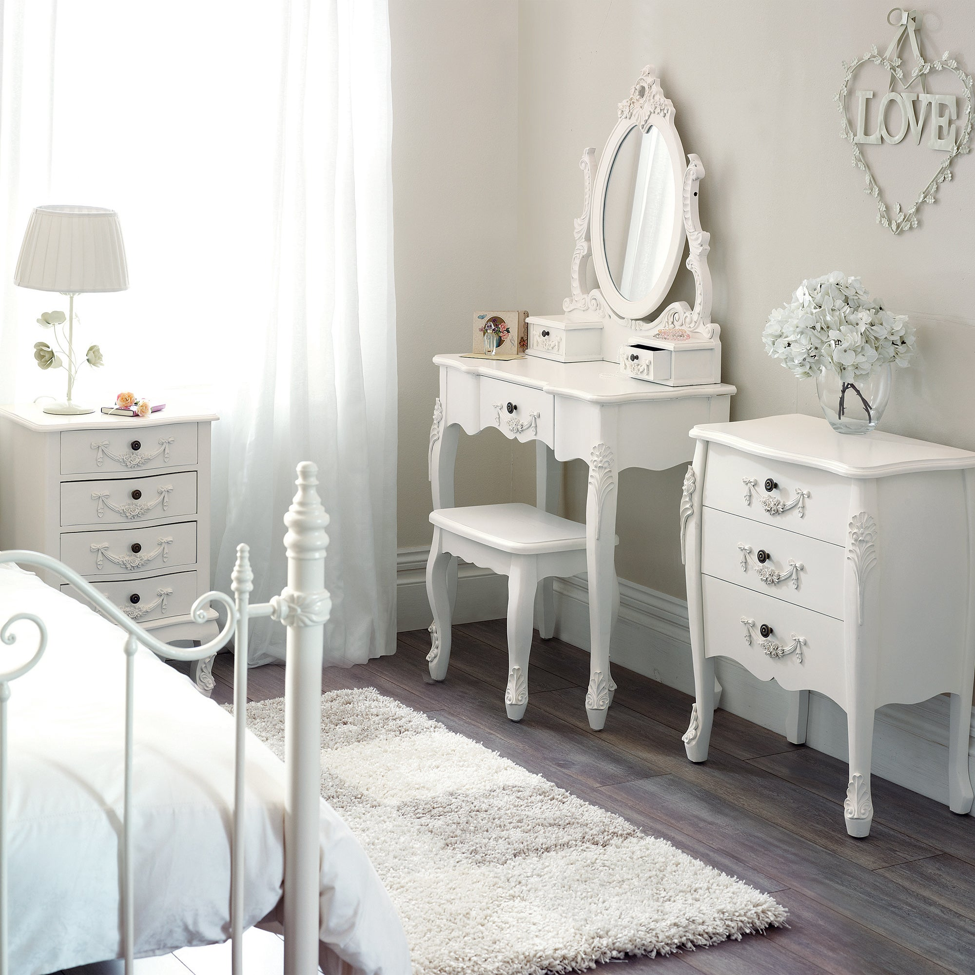 Toulouse White Bedroom Furniture Collection