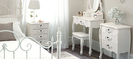 Toulouse White Bedroom Furniture Collection Dunelm