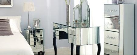 Parisian Mirrored Bedroom Furniture Collection Dunelm