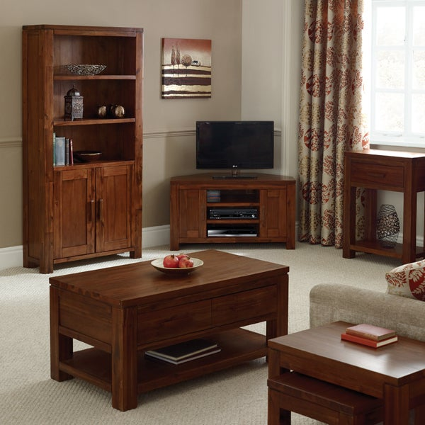 Seville Acacia Dark Wood Living Furniture Collection