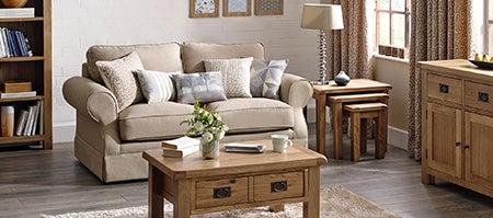 Aylesbury Oak Living Furniture Collection Dunelm