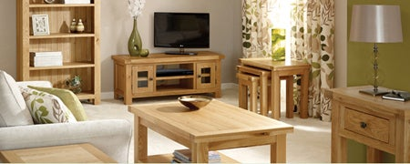 Harrogate Oak Living Furniture Collection Dunelm
