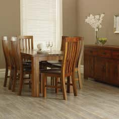 Oxford Acacia Dark Wood Dining Furniture Collection
