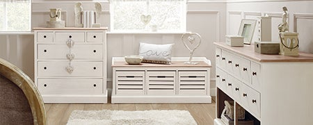 Bretagne White Living Furniture Collection