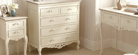 Camille White Bedroom Collection Dunelm