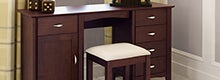 Monet Dark Wood Bedroom Furniture Collection
