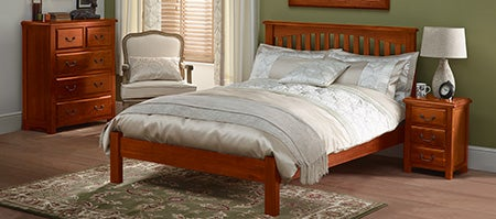 Winchester acacia dark wood bedroom furniture collection for Winchester bedroom furniture