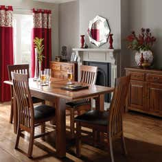 Winchester Acacia Dark Wood Dining Furniture Collection