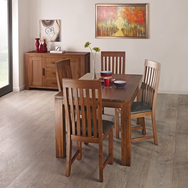 Seville Acacia Dark Wood Dining Furniture Collection