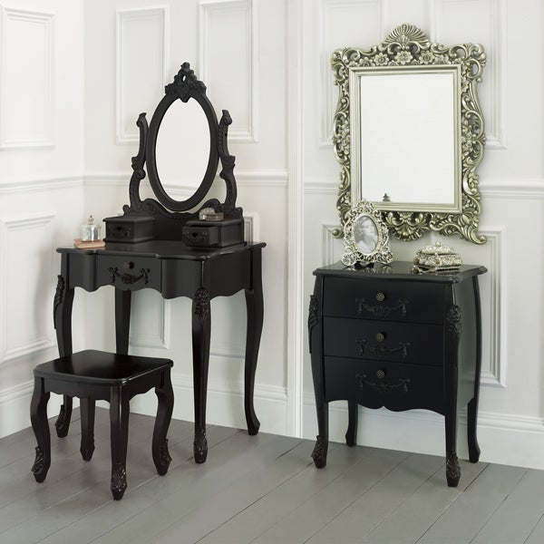 Toulouse Black Bedroom Furniture Collection Dunelm