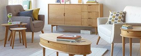 Skandi Oak Living Furniture Collection Dunelm