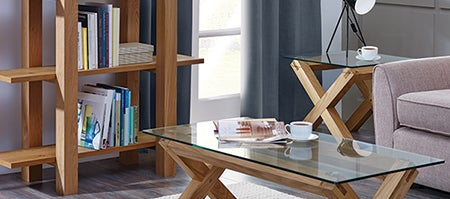 Knox Washed Oak Living Furniture Collection