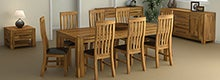 Columbia Acacia Dark Wood Dining Furniture Collection