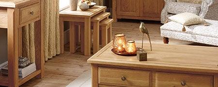 Gainsborough Oak Living Furniture Collection Dunelm