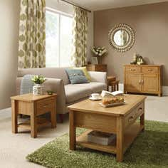 Hampshire Oak Living Furniture Collection