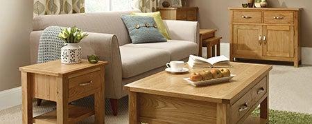 Hampshire Oak Living Furniture Collection Dunelm
