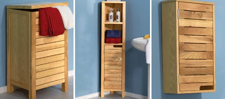 Milan Oak Bathroom Furniture Collection