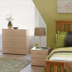 Boston Oak Bedroom Furniture Collection