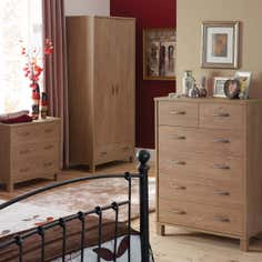 Perth Oak Bedroom Furniture Collection
