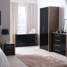 Indiana Black Bedroom Furniture Collection