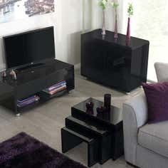 Soho Black Living Furniture Collection