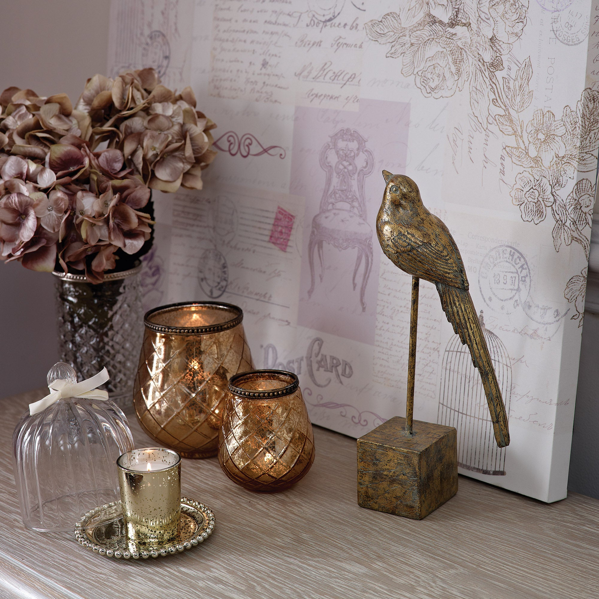 Golden Blush Home Decor Collection