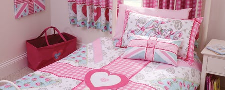 Pink Ditsy Union Jack Bedlinen Collection