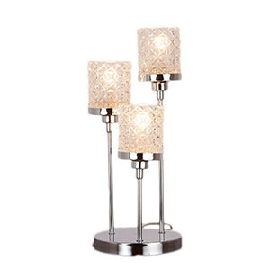 Satine Chrome Table Lamp