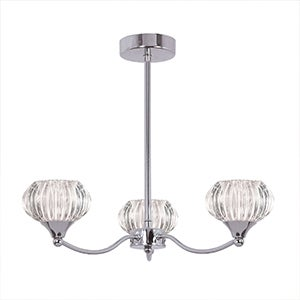 Sofia 3 Light Chrome Fitting